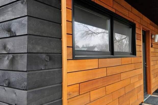 Деревянная отделка фасада дома фото