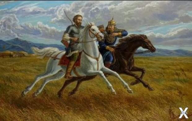 А. Невский и сын Батыя - Сартак. Авто...