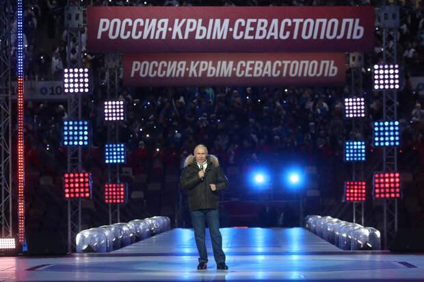 Путин поздравил россиян с седьмой годовщиной возвращения Крыма