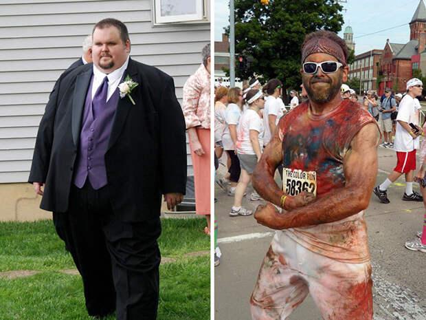 6. Из 250 кг в 100 кг похудение, результат