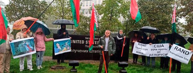 В Киеве избили главу Белорусской общины за пикет посольства США против Rand