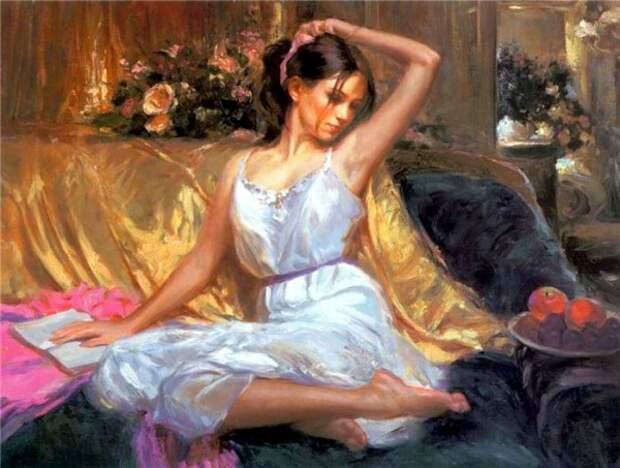 женский портрет Владимир Волегов - 03