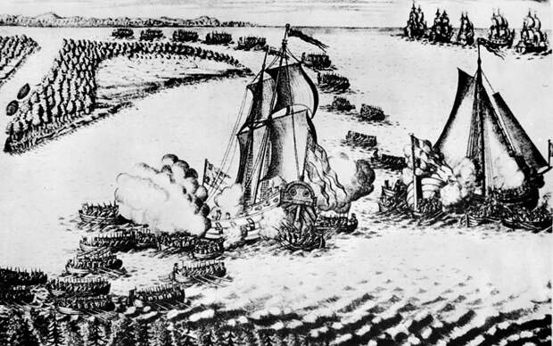 18 мая 1703 года — Бой в устье Невы
