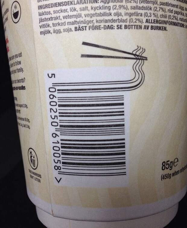 22 остроумных штрих-кода натоварах
