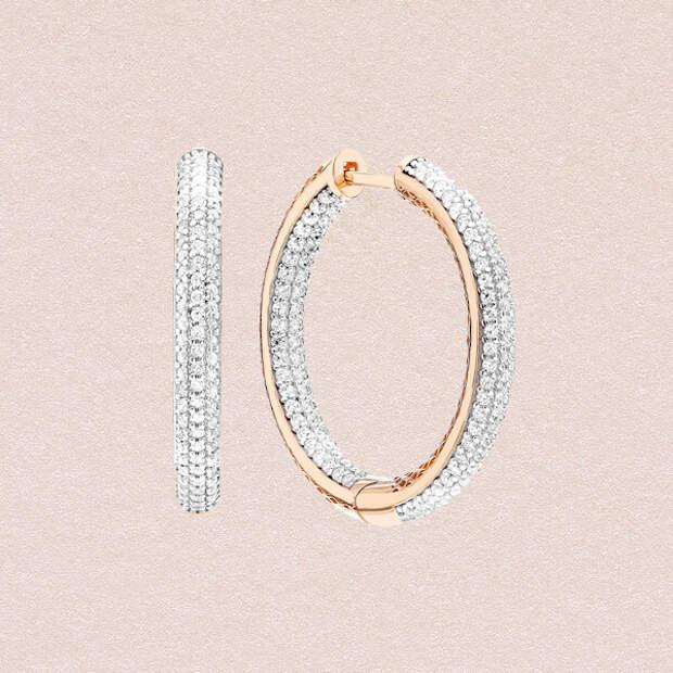 Украшение мечты: фигурные серьги-кольца как у Bottega Veneta