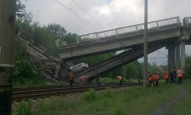 В Донбассе взорван мост в Луганск
