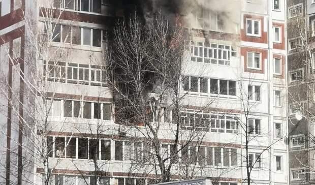 ВНабережных Челнах горит многоквартирный дом