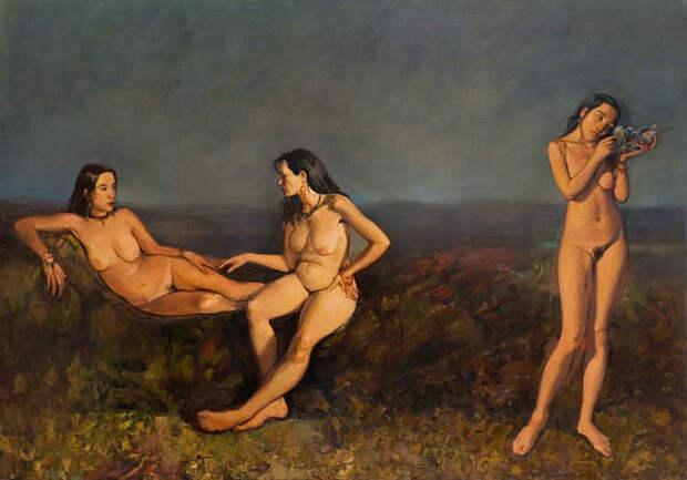 Обнаженная натура в изобразительном искусстве разных стран. Часть 147.