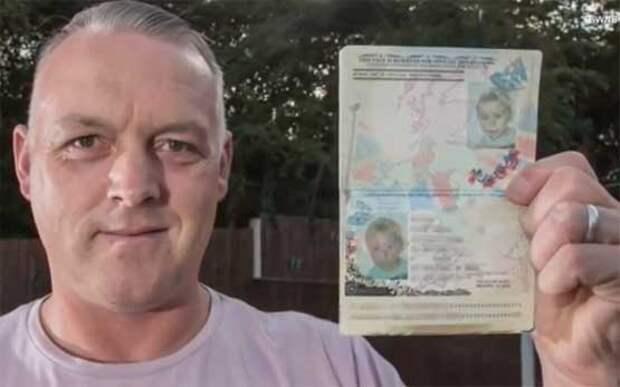 Британец пересек Европу по паспорту сына