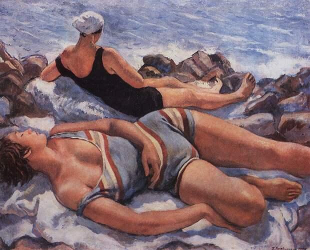 Зинаида Серебрякова. «На пляже», 1927