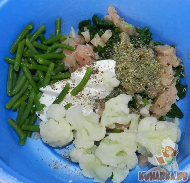Запеканка из овощей с курицей.