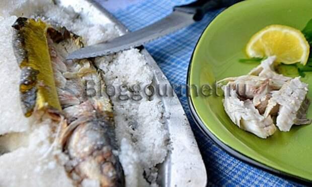 Рецепт рыбы, запечённой в соли целиком