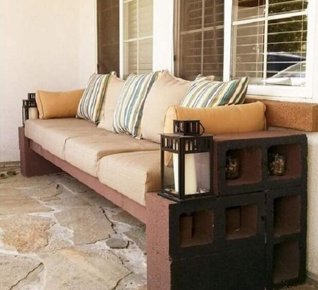 Кирпичная мебель подборка