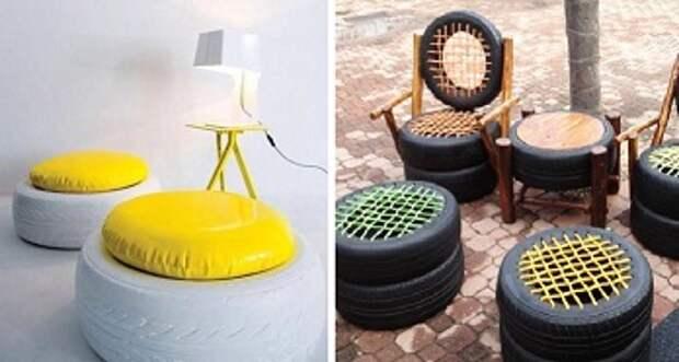 овременные мастера придумали множество идей изделий из покрышек, поэтому вы сможете сделать не только предметы декора, но и качественную мебель.