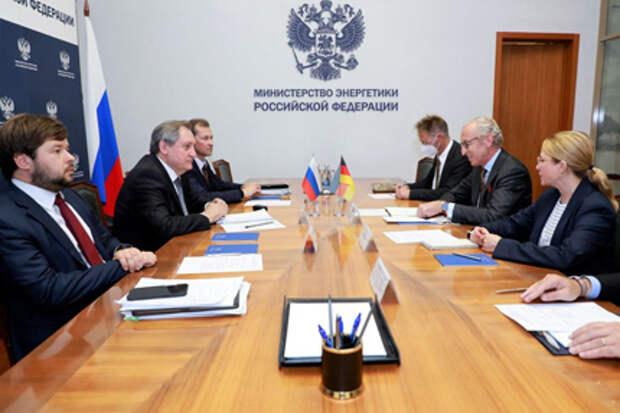 Глава Минэнерго РФ обсудил со Спецпредставителем Германии вопросы транзита газа