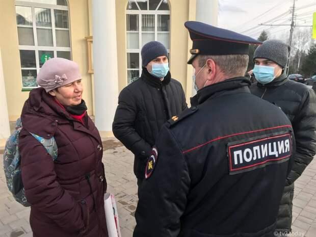 В Томске задерживают участников акции в поддержку Навального