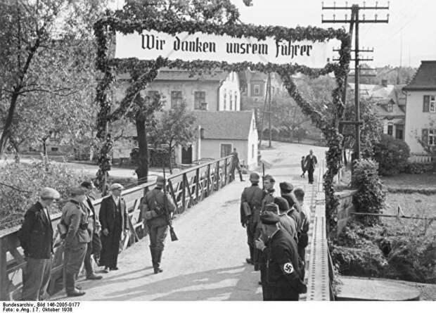 Граница Германии и Чехии, приветственный плакат