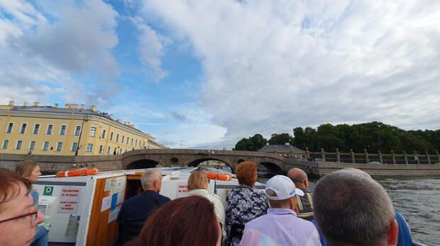 Прачечный мост. Река Фонтанка. Город Санкт-Петербург