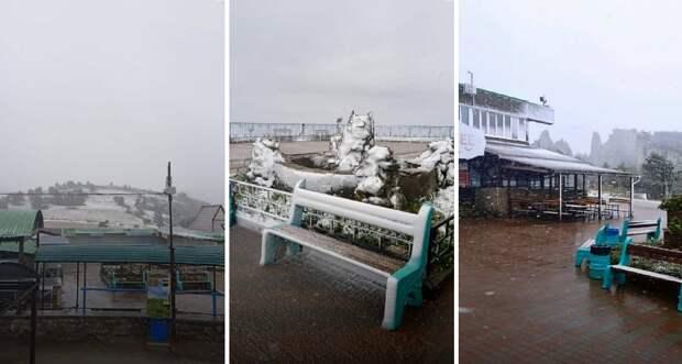 Первый снег выпал в Крыму