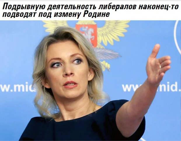 Либеральная оппозиция друг России или ..., кто? О мнении М. Захаровой