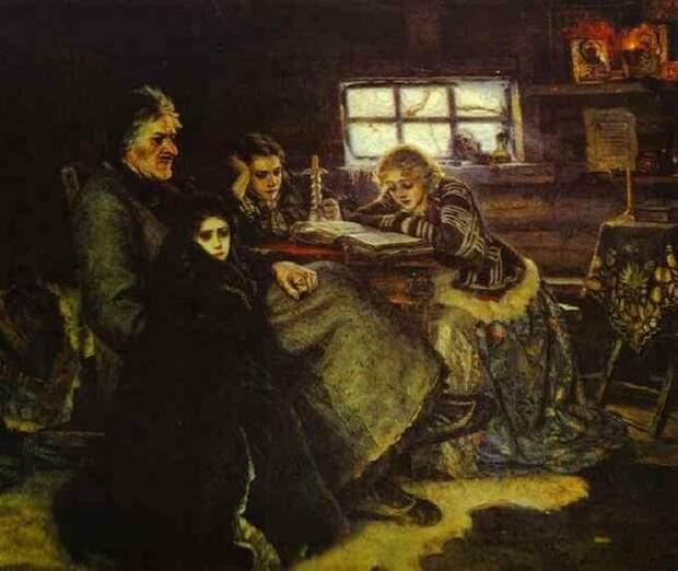 А.Д. Меншиков с дочерьми в Берёзово