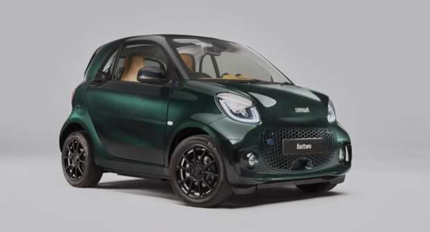 Представлена новая версия электрического Smart EQ Fortwo с декором Brabus