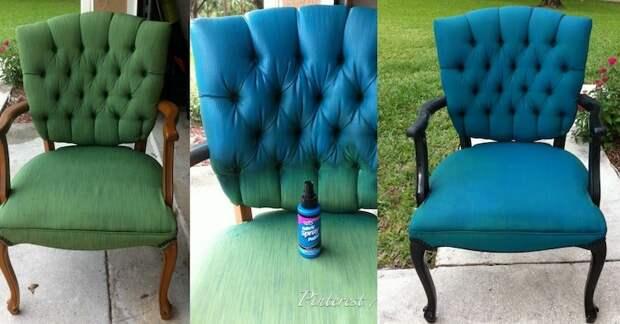 Необязательно покупать новый стул, выручит аэрозольная краска для ткани бюджетно, дом, идеи, креатив, ремонт, своими руками, советы, фото