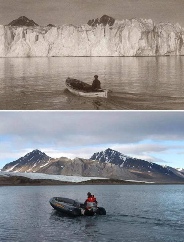 """Изменение климата на Земле. Снимки """"тогда и сейчас"""""""