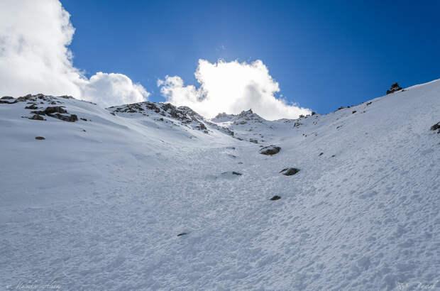Вид в сторону вершины