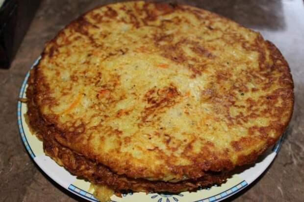 Пирог Драник. Выпечка с яичной начинкой и нежирной картофельной основой 4