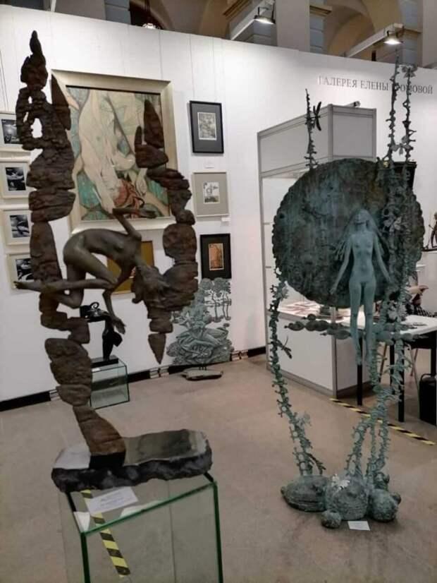 Ветеран из Войковского увлекается созданием скульптур из древесных наростов