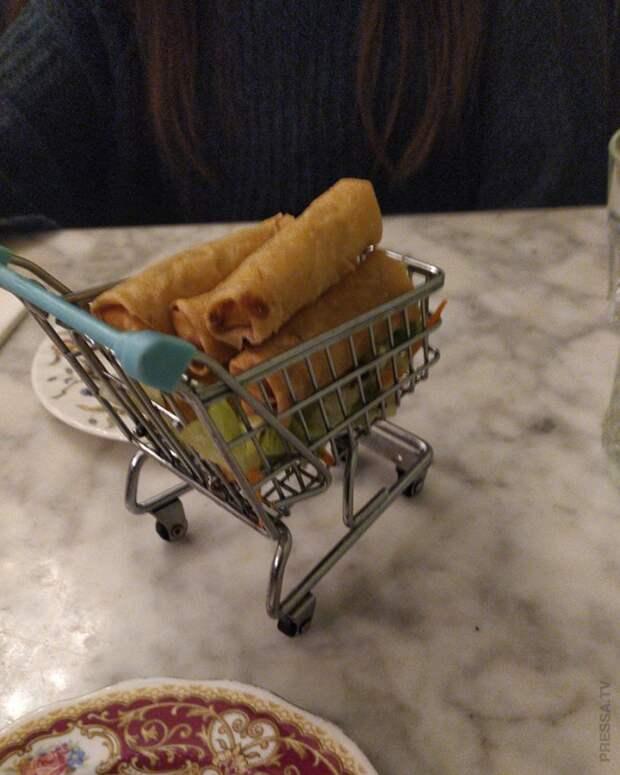 Супер «оригинальная» подача еды в ресторанах