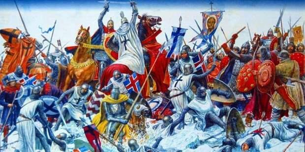 День победы русских воинов князя Александра Невского над немецкими рыцарями на Чудском озере 18 апреля 2021