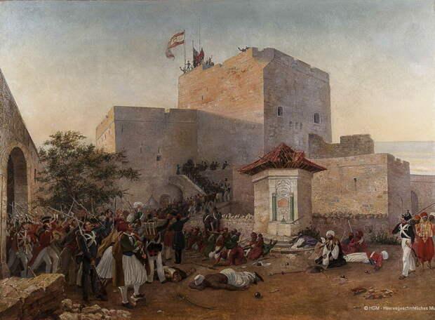 Английские войска и их турецкие союзники захватывают Сидон. Сентябрь 1840 года. sharinghistory.org - «Паровые» реформы Адмиралтейства | Warspot.ru