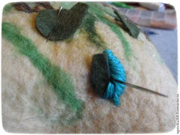 Создание объёмной вышивки на войлоке