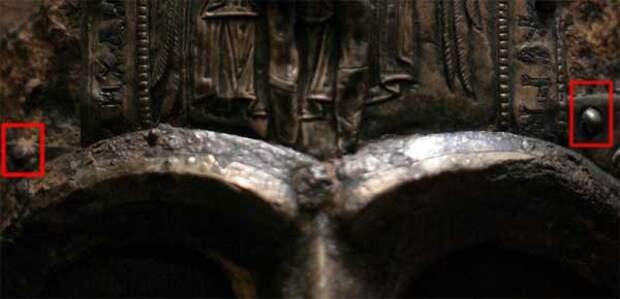 Неровный венец на шлеме князя