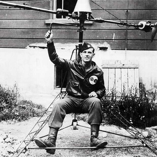 Сверхлёгкий ранцевый вертолёт NR-54V2, 1945 год - Нетрадиционная любовь Бруно Наглера | Warspot.ru