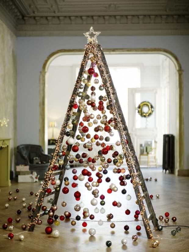 Как украсить дом к Новому году с помощью елочных шаров: 15 ярких идей
