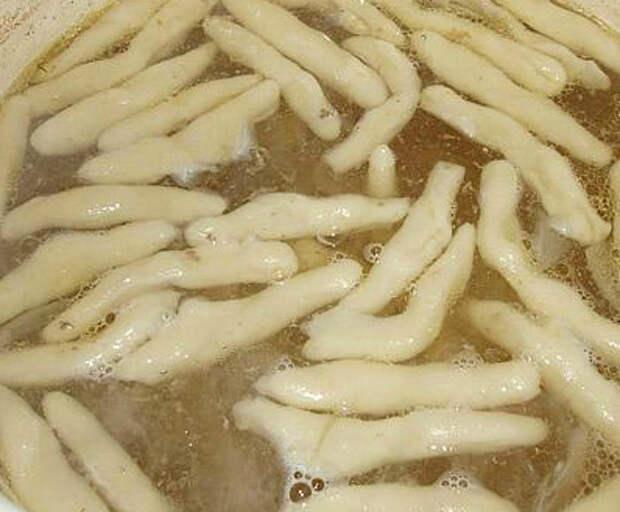 Жижик-галнаш ( Чеченские галушки с мясом )
