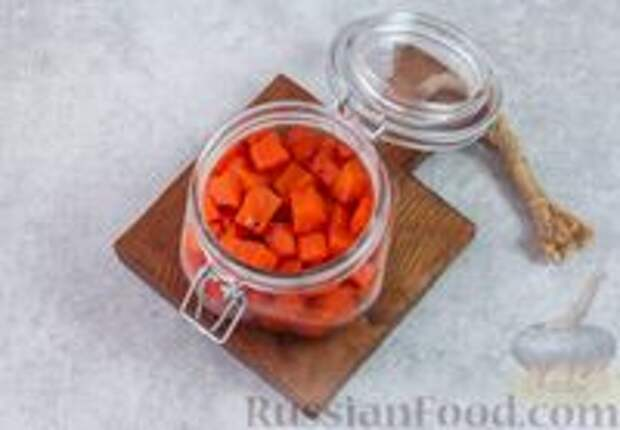 Фото приготовления рецепта: Острая морковь в горчичном масле - шаг №7