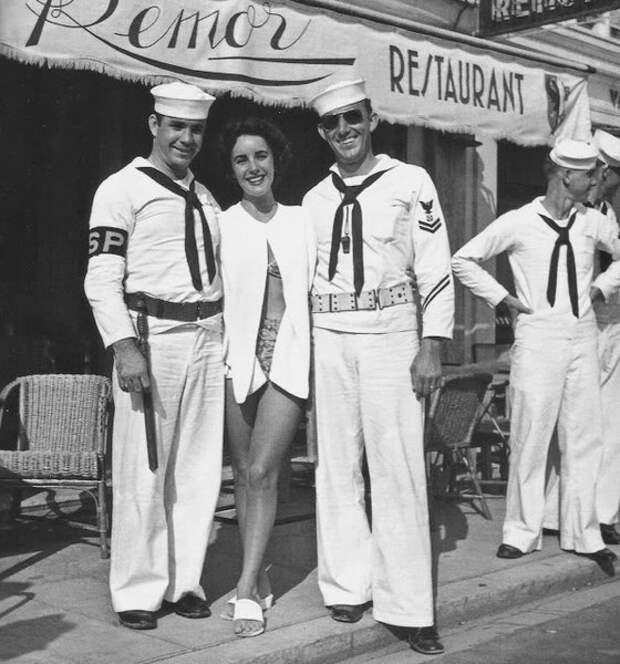 Элизабет Тейлор в Каннах, 1950 год