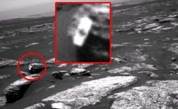 Странный предмет с кленовым листком лежит на поверхности Марса?