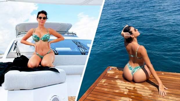 Невеста Роналду показала великолепные формы в откровенном купальнике
