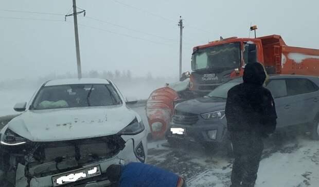 ВПономаревском районе произошло массовое ДТП сучастием дорожной техники