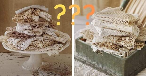 Что можно сделать из старых вязаных салфеток? Очень даже красивые вещи