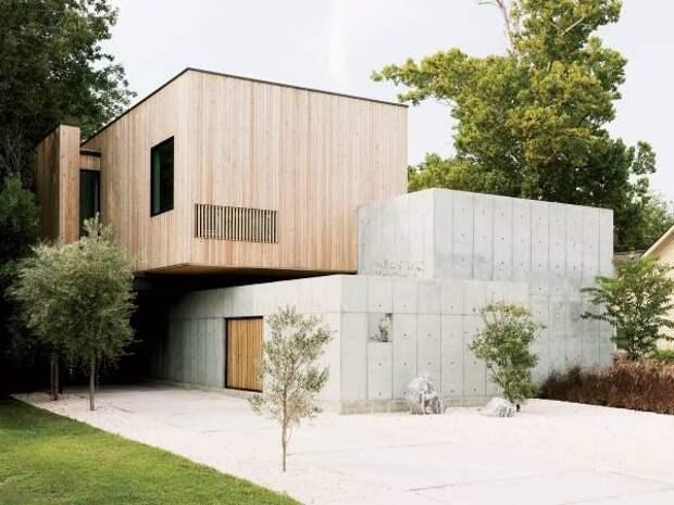 Стильный современный фасад дома - фото частных домов