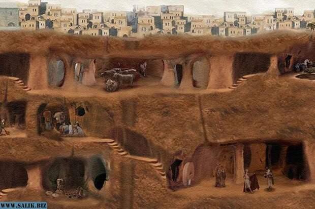 """""""Озконак"""" - подземный город, более чем в 10 этажей"""