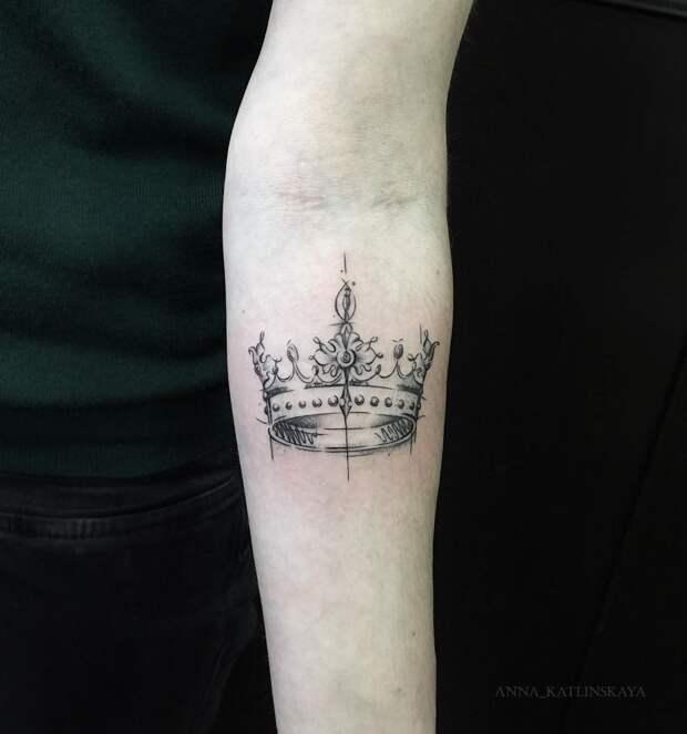 тату корона фото 9