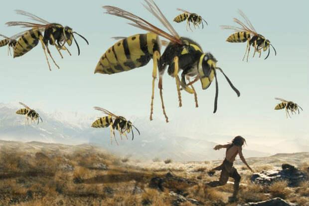 Невероятные гигантские насекомые жившие 300 миллионов лет назад. Видео