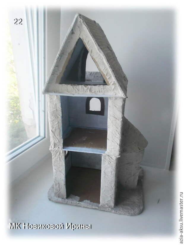 Как сделать кукольный домик из гофрокартона